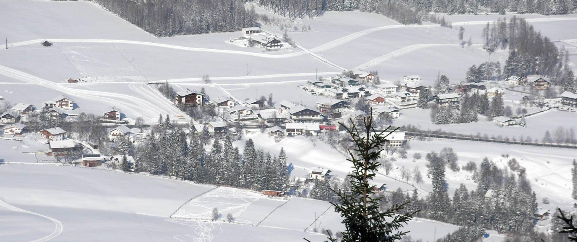 Alpenhof Winterlandschaft